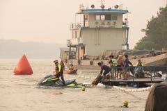 CHIANG RAI,HAILAND-APR 3,2016 : Lifeguard and Triathlon athlete Royalty Free Stock Photo