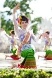 Chiang Rai - 24. Juli:  Wat Rong Khun am 24. Juli 2013 genommen. Thailändisch Lizenzfreies Stockfoto