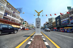 Chiang Rai Street view. The Street view in Mae Sai district, which is the northernmost district of Chiang Rai Province in northern Thailand. The town of Mae Sai Royalty Free Stock Photography