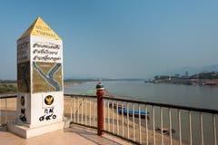 Chiang Rai, Tailândia - 1º de março de 2015: Triângulo dourado um famoso a Fotos de Stock