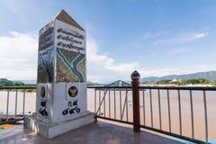 CHIANG RAI, TAILÂNDIA - JUNHO 21,2015 - triângulo dourado em Thailan Fotografia de Stock Royalty Free