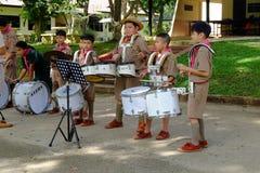 Chiang Rai, Tailandia - 31 de julio de 2018: Banda de la práctica, a fotos de archivo