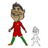 CHIANG RAI, TAILANDIA - 21 DE JUNIO: Cristiano Ronaldo un portugués Foto de archivo libre de regalías