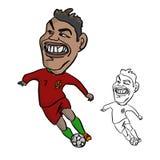 CHIANG RAI, TAILANDIA - 19 DE MAYO: cabeza grande CR7 Cristiano Ronaldo i Foto de archivo