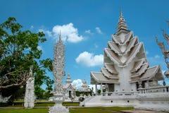 Chiang Rai in Tailandia del Nord Baimiao ha chiamato: Kun Temple lungo, Linh Quang o Dragon Temple bianco & x28; Wat Rong Khun &  fotografia stock