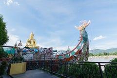 CHIANG RAI, TAILANDIA - GIUGNO 21,2015 - triangolo dorato in Thailan Immagini Stock Libere da Diritti