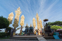 CHIANG RAI, TAILANDIA - GIUGNO 21,2015 - triangolo dorato in Thailan Fotografia Stock