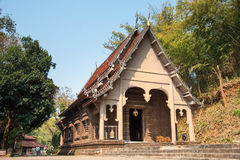 Chiang Rai, Tailandia - 1° marzo 2015: Wat Phra That Phukhao in Gol Immagine Stock