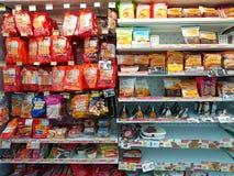 CHIANG RAI, TAILANDIA - 26 NOVEMBRE: varia marca di salsiccia e Fotografie Stock Libere da Diritti