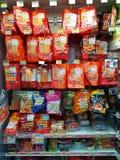CHIANG RAI, TAILANDIA - 26 NOVEMBRE: varia marca di salsiccia e Fotografie Stock
