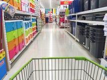 CHIANG RAI, TAILANDIA - 18 OTTOBRE: inte dell'interno del supermercato di BigC Immagine Stock Libera da Diritti