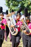 CHIANG RAI, TAILANDIA - 19 SETTEMBRE: gioco non identificato degli studenti Fotografia Stock