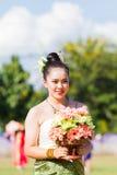 CHIANG RAI, TAILANDIA - 19 SETTEMBRE: ragazza non identificata con Tha Fotografia Stock Libera da Diritti