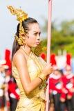 CHIANG RAI, TAILANDIA - 19 SETTEMBRE: ragazza non identificata con Tha Fotografia Stock