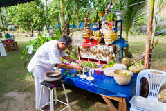 CHIANG RAI, TAILANDIA - 1° SETTEMBRE: uomo non identificato in traditi Immagine Stock Libera da Diritti