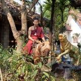 Chiang Rai, Thaïlande - 1er mars 2015 : Moine bouddhiste Photo stock