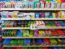 CHIANG RAI, THAÏLANDE - 25 NOVEMBRE : diverse marque de pastille et Image libre de droits
