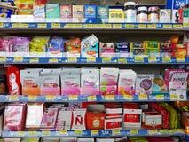 CHIANG RAI, THAÏLANDE - 25 NOVEMBRE : diverse marque de pil médical Photos stock