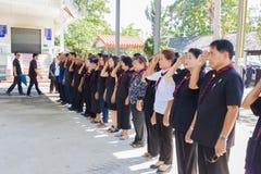 CHIANG RAI, THAÏLANDE - 19 NOVEMBRE : garçon civil thaïlandais non identifié Image stock