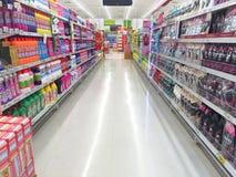 CHIANG RAI, THAÏLANDE - 18 OCTOBRE : inte d'intérieur de supermarché de BigC Photo stock