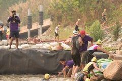 CHIANG RAI,THAILAND-APR 3,2016 : Lifeguard and Triathlon athlete Stock Image