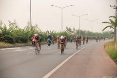 CHIANG RAI,THAILAND-APR 3,2016 : Sporter prepare to ride bicycle Stock Photos