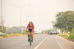 CHIANG RAI,THAILAND-APR 3,2016 : Sporter prepare to ride bicycle Stock Photo