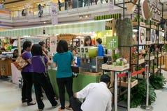CHIANG RAI, THAILAND, 21-2015 AUGUSTUS: Koffie en Theefestival 2015 Stock Foto's