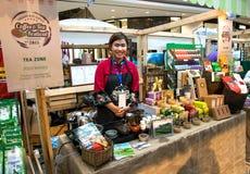 CHIANG RAI, THAILAND, 21-2015 AUGUSTUS: Koffie en Theefestival 2015 Stock Fotografie