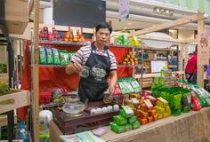 CHIANG RAI, THAILAND, 21-2015 AUGUSTUS: Koffie en Theefestival 2015 Stock Afbeeldingen