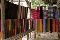 Chiang Rai Thailand fabric textile village Stock Photography