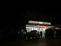 CHIANG RAI, THAILAND - 1. FEBRUAR: Seven Eleven oder 7-Eleven Stockfotografie