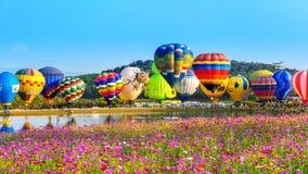 CHIANG RAI, THAILAND - FEBRUARI 16: Kleurrijke ballon bij SINGHA Royalty-vrije Stock Fotografie