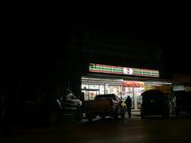 CHIANG RAI THAILAND - FEBRUARI 1: Seven Eleven eller 7-Eleven Arkivbild