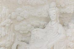 CHIANG RAI, THAILAND - February, 2018 : Art stucco at wathyuapla. Kang  And respectable of Buddhist faith onFebruary, 2018 at Baan hyuaplakang , Robwiang, Muang Royalty Free Stock Photography