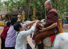 CHIANG RAI THAILAND - Maj 21, 2016: Buddist arkivfoto