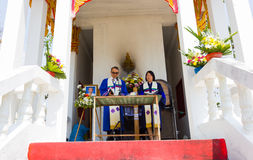 CHIANG RAI, THAILAND - MARCH 2 : Unidentified male and female pastors Stock Images