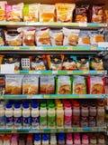 CHIANG RAI, THAILAND - NOVEMBER 25: divers merk van hamburger en Royalty-vrije Stock Afbeelding