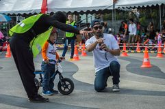 Flipper Balance Bike Chiangrai Championship, Children participate in balance bicycle race. Stock Images