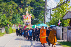 CHIANG RAI, THAILAND - NOVEMBER 19 : unidentified Thai people wa Royalty Free Stock Photography