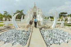 Chiang Rai, Thailand - November 20,2012: Wat Rong Khun Stockfotos