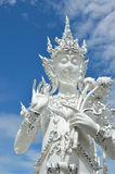 CHIANG RAI, THAILAND - NOVEMBER 21 : Wat Rong Khun buildings and Royalty Free Stock Photography