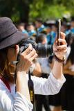 CHIANG RAI, THAILAND - OCTOBER 5 : unidentified asian woman taki Royalty Free Stock Photography