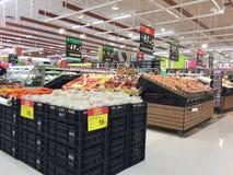 CHIANG RAI, THAILAND - OKTOBER 28: verse organische groenten en Royalty-vrije Stock Fotografie