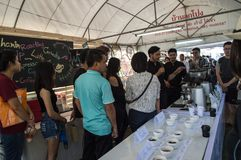 Best Coffee & Tea at Singh Park. Making ice coffee, workshop. Chiang Rai, Thailand - September 24,2017: Best Coffee&Tea at Singh Park. There are coffee and Royalty Free Stock Image