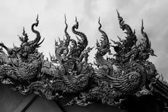 Chiang Rai Wat Rong Khun - temple blanc 14 image libre de droits