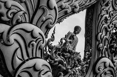 Chiang Rai Wat Rong Khun - temple blanc 15 image libre de droits