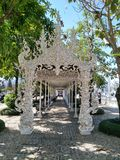 Chiang Rai White Temple Building lizenzfreies stockfoto