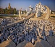 Chiang Raja świątynia, Wat Rong Khun Obraz Royalty Free