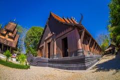 CHIANG RAJA TAJLANDIA, LUTY, - 01, 2018: Ludzie wchodzić do Baan tamy czerni Muzealny dom, Baan tama są Chiang Raja Obrazy Stock